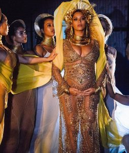 Beyonce at Grammys as Oshun