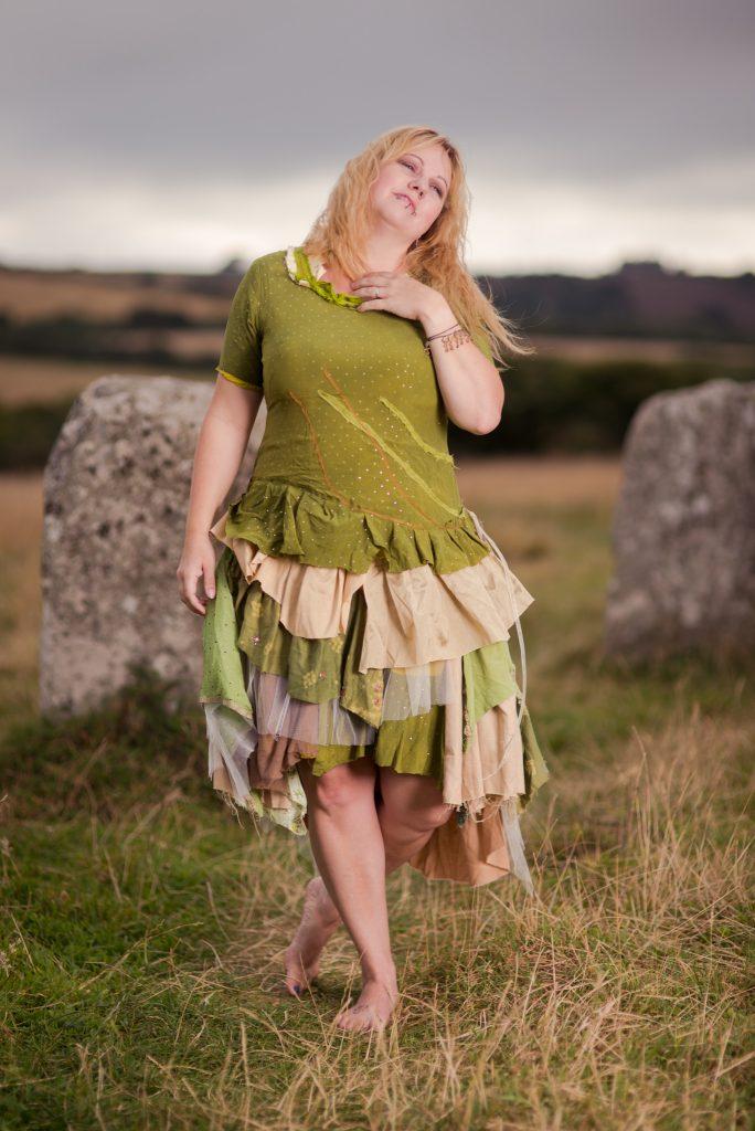 How i made the woodland fairy wedding dress threads of a for Woodland fairy wedding dress