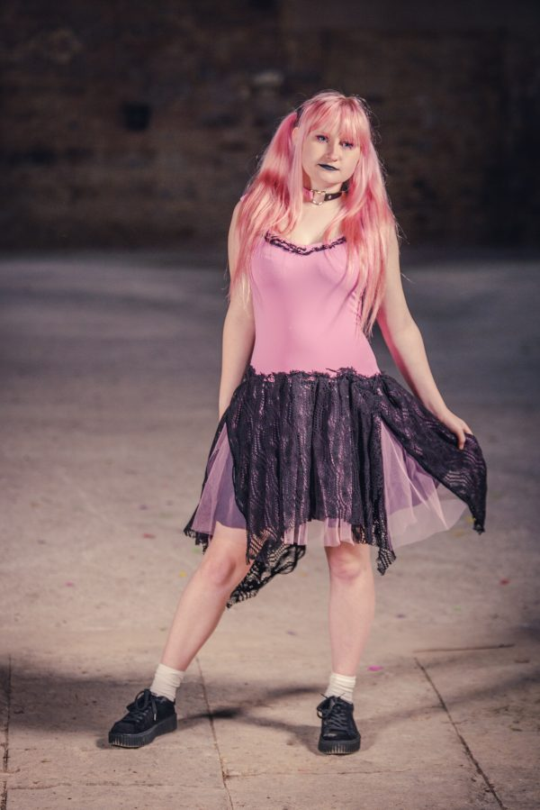 pink and black adult fairy dress