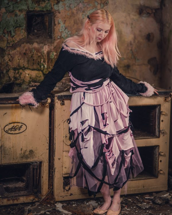 pink and black pastel goth dress