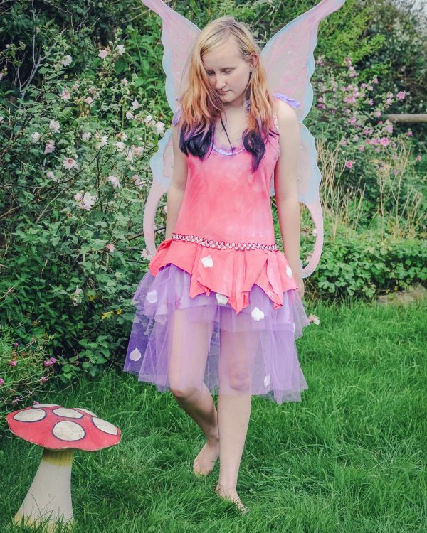 pink flower fairy dress
