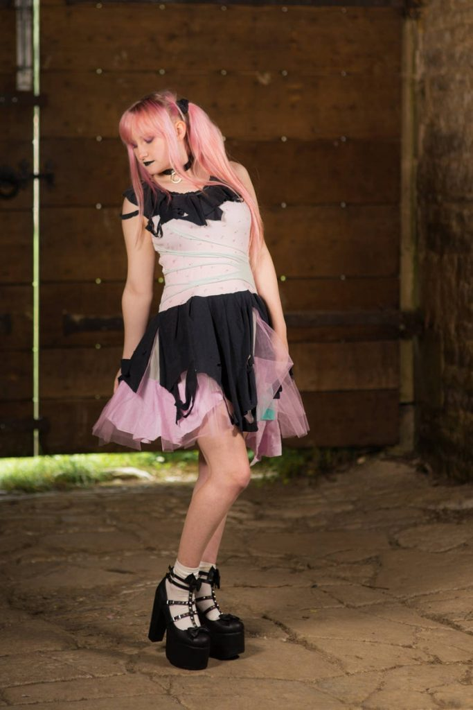 Pastel goth kawaii dress