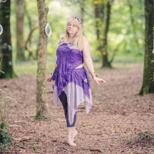 purple silk fairy skirt