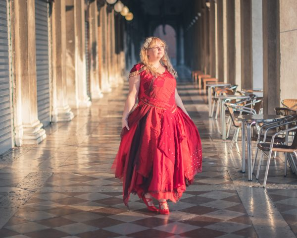 Made to order red wedding dress