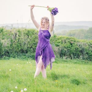 silk purple fairy outfit