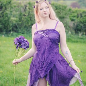 purple silk fairy top