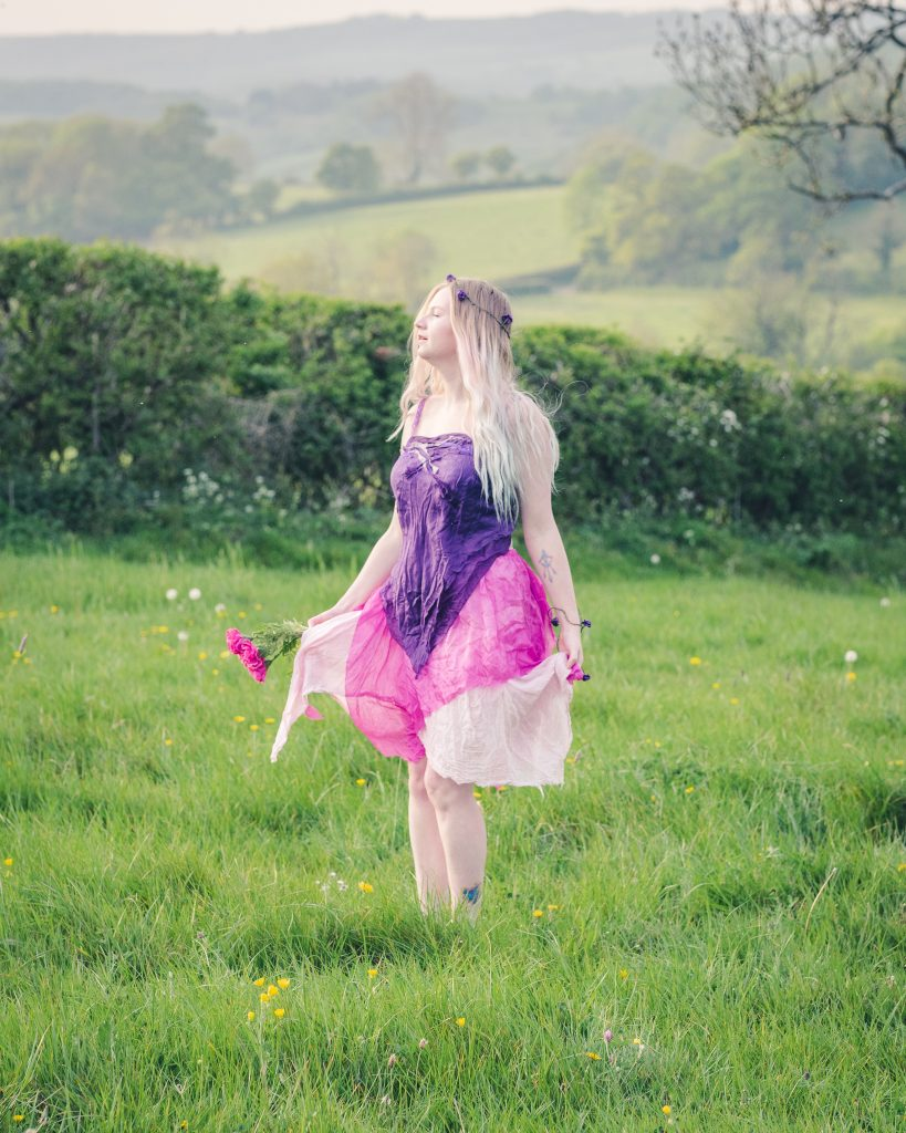 purple and pink women's fairy costume